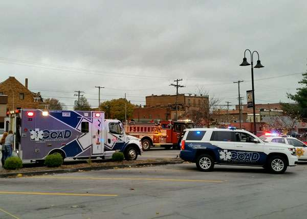 Christian county EMS on incident scene