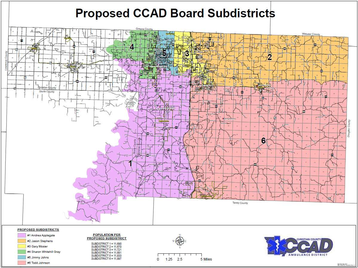 Proposed Sub Districts